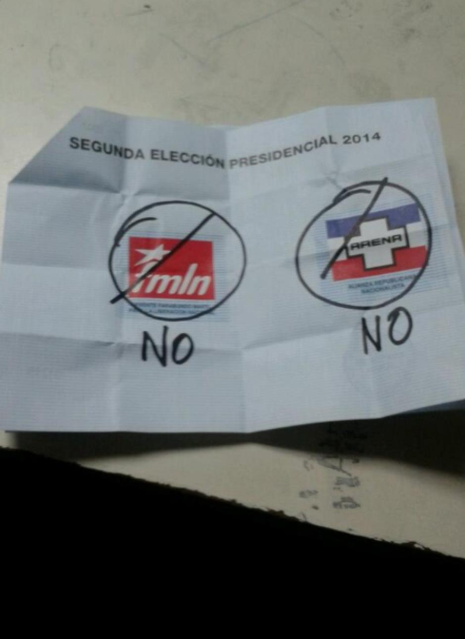 La inconformidad de los salvadoreños en la segunda vuelta de elecciones. (Foto: El Mundo)