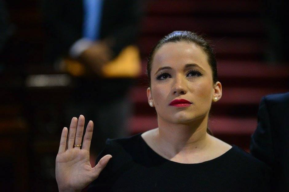 Beltranena fue juramentada como diputada en sustitución de Pedro Muadi. (Foto: Wilder López/Soy502)