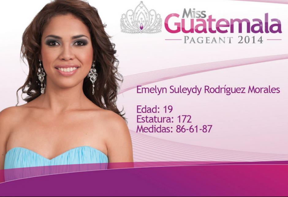 Emelyn Rodríguez representa a Izabal. (Foto: Miss Guatemala oficial)