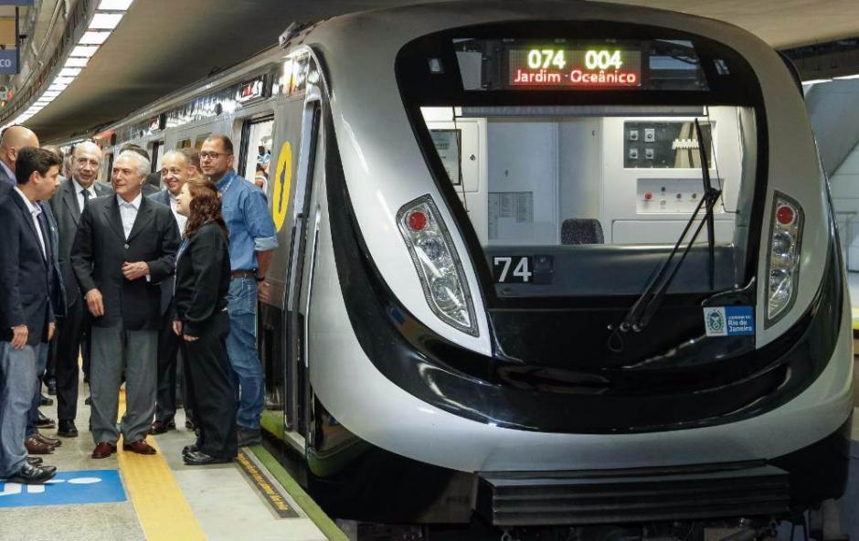 Una nueva línea de tren se abrirá este lunes para comodidad de los visitantes en Río. (Foto: AFP)