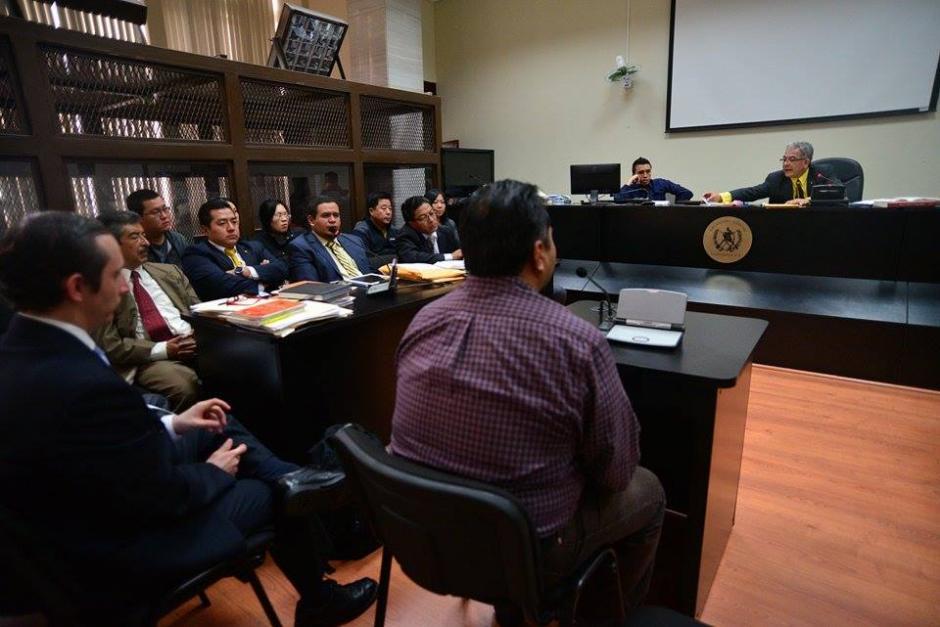 La audiencia se desarrolla en el Juzgado B de Mayor Riesgo que preside el juez, Miguel Ángel Gálvez. (Foto: Wilder López/Soy502)