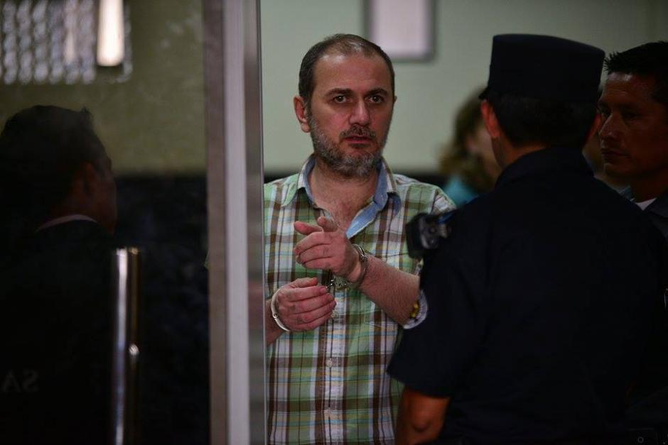 """Antoun Batach importador vinculado al caso """"La Línea"""" antes de la audiencia de primera declaración. (Foto: Wilder López/Soy502)"""