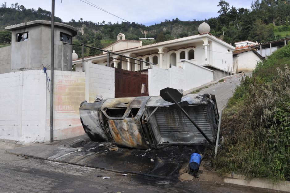 Así se ven las calles de Concepción, Sololá, donde se registraron los enfrentamientos. (Foto: Alan Lima/Nuestro Diario)