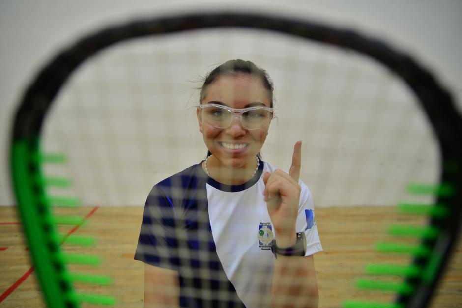 Ana Gabriela Martínezes la mejor atleta juvenil del raquetbol mundial. (foto: Wilder López/soy502)