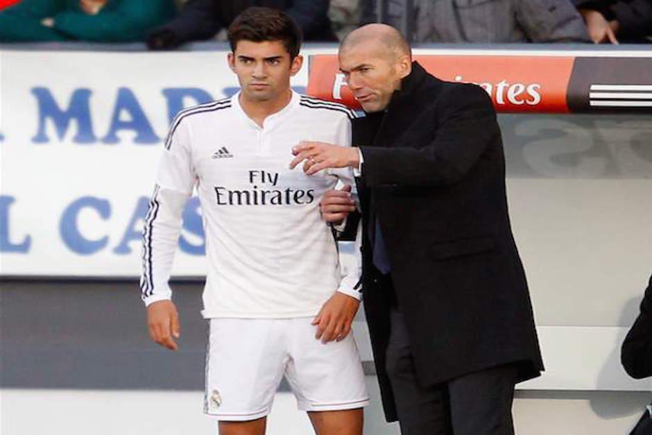 """""""Zizou"""" se mostró orgulloso de la participación de Enzo con la plantilla mayor del Real Madrid. (Foto: nesn.com)"""