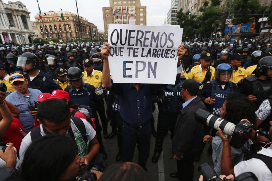 La marcha se suscitó previo a la celebración de Independencia mexicana. (Foto: www.infobae.com)