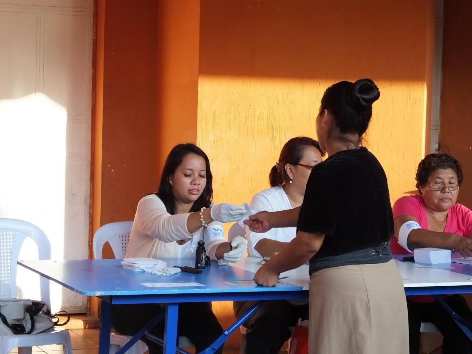 Centro de votación ubicado en la Escuela Oficial Urbana de Niñas #15, 15 de septiembre, en Escuintla. (Foto: Nuestro Diario)