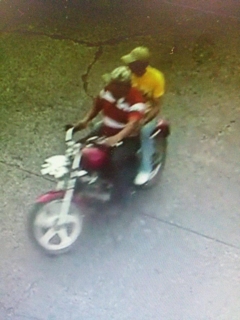 Imagen capturada por la cámara de videovigilancia de Escuintla. (Foto: PNC)