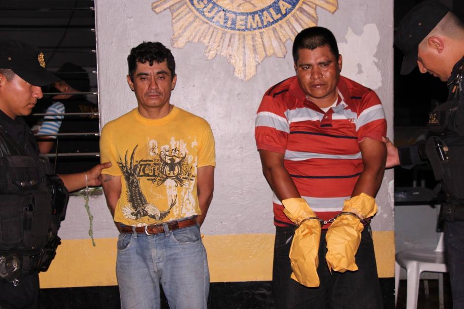 Uber Manuel García Ramírez y Edvin Guevara Hernández, presuntos autores del crimen contra mujer de 43 años. (Foto: PNC)