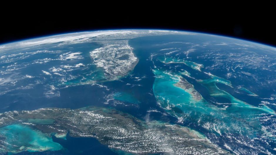 Cuba, Bahamas, Florida y el golfo de México lucen así desde el espacio. (Foto: Jeff Williams/NASA)