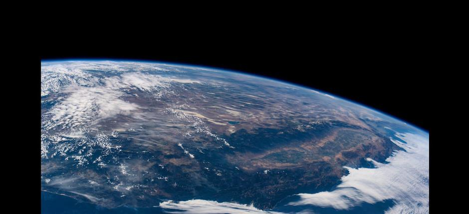 Esta es la costa oeste de EE.UU, de Jeff Williams. (Foto: Jeff Williams/NASA)