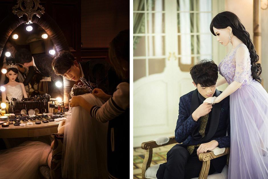 Un joven se casa con una muñeca de silicona. (Foto: Google)