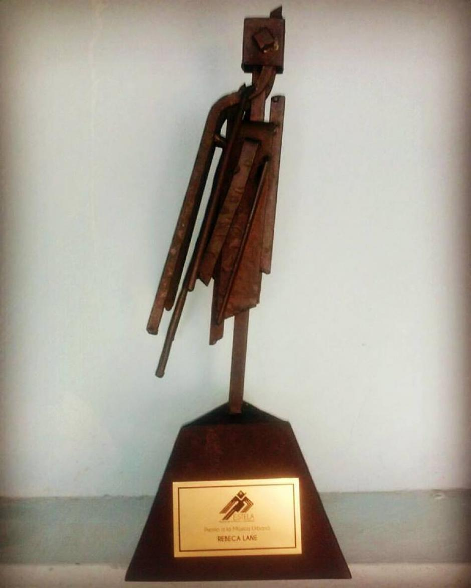 Rebaca Lane recibió el Premio a la Müsica Urbana. (Foto: Rebeca Lane)