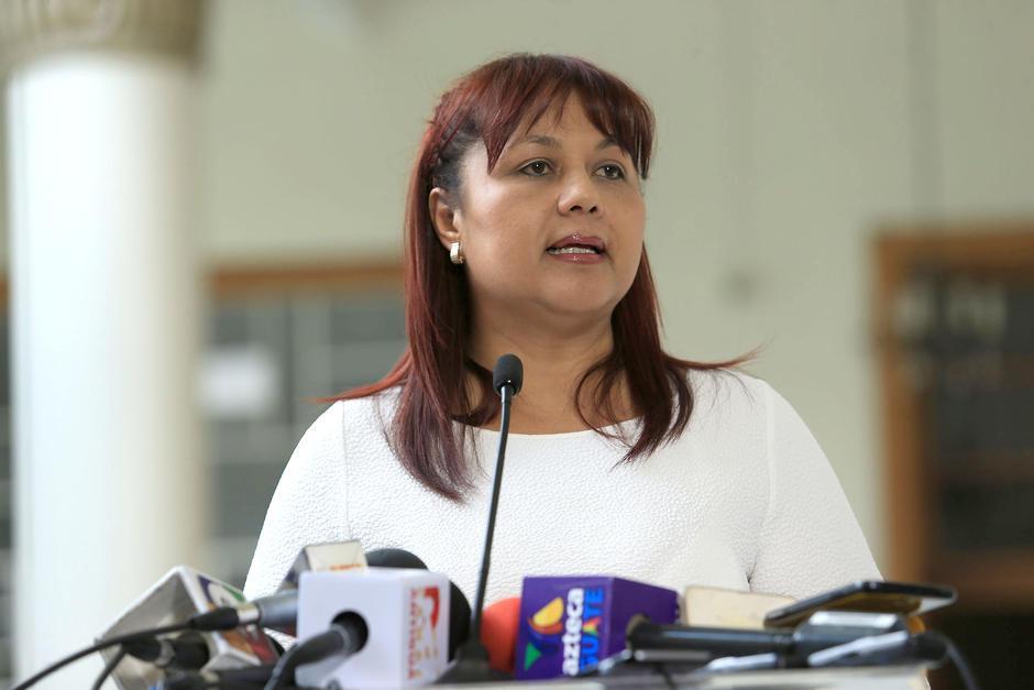En mayo de 2015 fue ascendida a Ministra de Gobernación. (Foto: Archivo/Soy502)