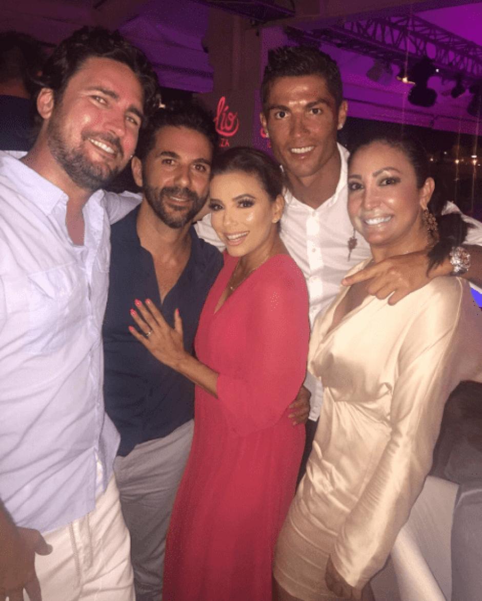 Longoria se encontró con Cristiano Ronaldo en un evento benéfico. (Foto: Eva Longoria/Instagram)