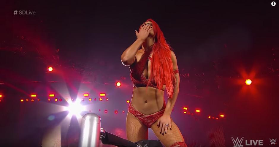 La luchadora quería enfrentarse a la irlandesa Becky Lynch. (Captura de pantalla: WWE/YouTube)