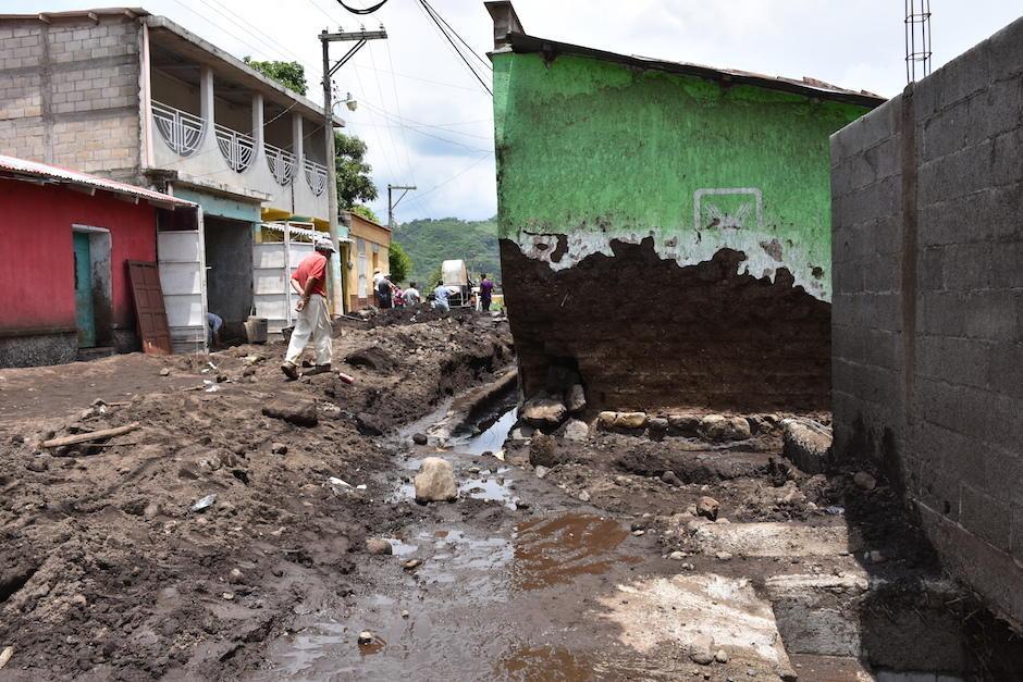 Ríos de lodo del volcán Chingo inundaron las calles y las viviendas. (Foto: Emeldina Rizzo/Nuestro Diario)