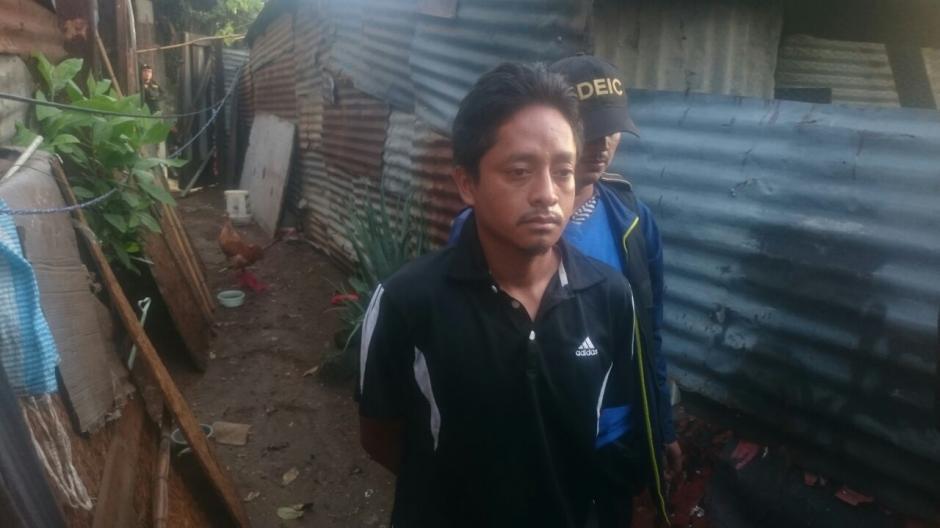 Luis García de 31 años fue detenido en Cerro Gordo, zona 21. (Foto: PNC)
