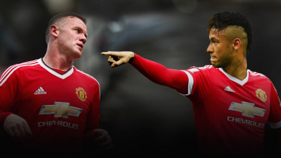 Neymar podría llegar al Manchester United en lugar de Rooney. (Foto: Fox Sports)