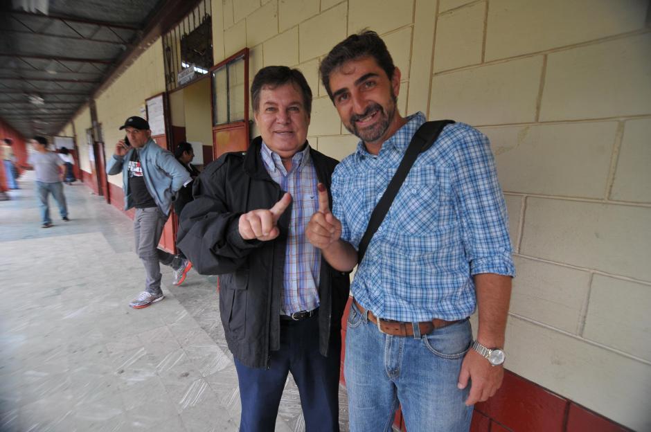 """El """"Chapa"""" Benítez, entrenador de Cobán Imperial, también participó en los comicios de este domingo. (Foto: Nuestro Diario)"""