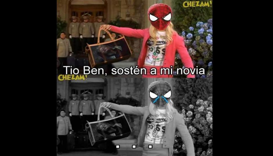 Hasta el Hombre Araña fue objeto de las ocurrencias de los internautas. (Foto: Twitter)