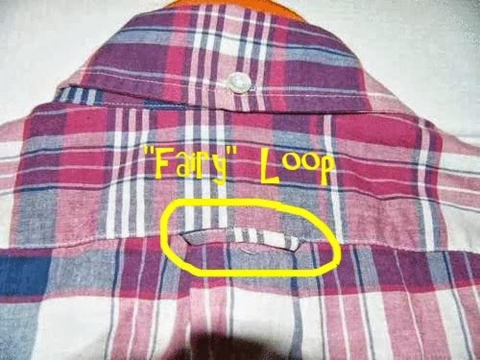 """El pequeño pedazo de tela detrás de las camisas se llama """"fairy loop"""". (Foto: elsalvador.com)"""