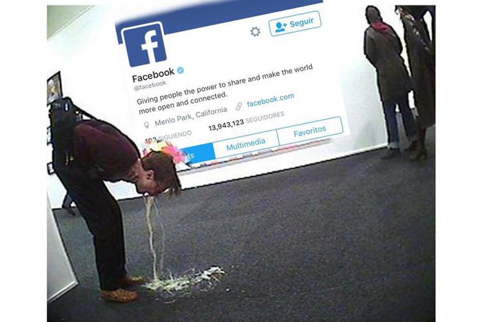 Facebook presentó un problema por algunos minutos. (Foto: Twitter)