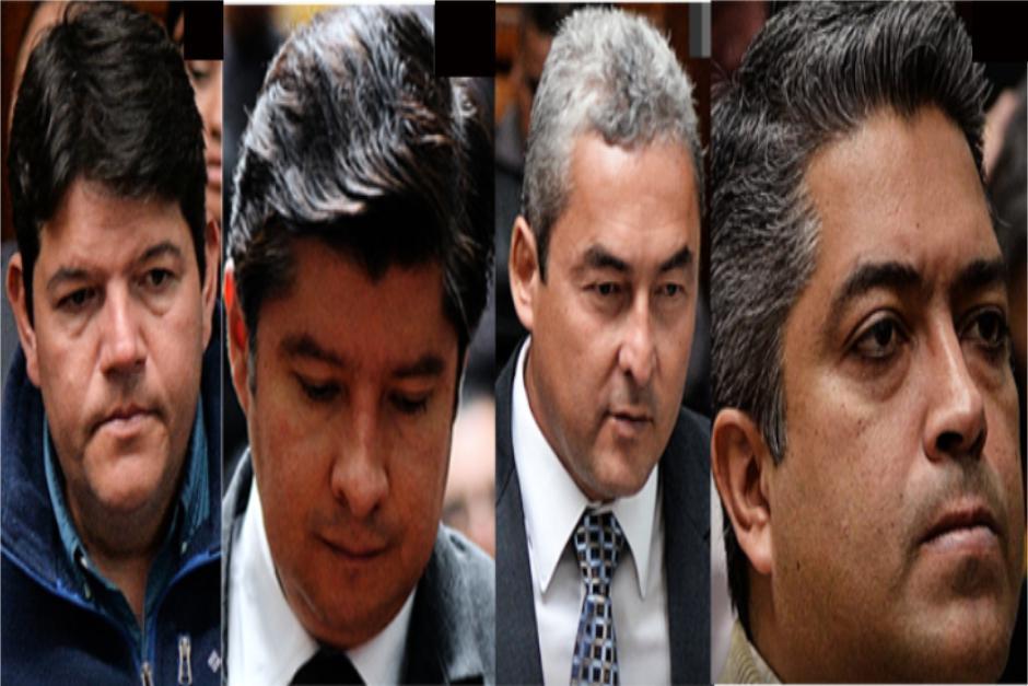 Cuatro de 57 lograron la falta de mérito: el exdiputado del partido Patriota Marvin Díaz; Julian Muñoz Jiménez, exdirector de la Comisión Trinacional del Plan Trifinio; el abogado Luis Fernando Montiel y el contratista Raúl Eduardo Castillo Castillo.
