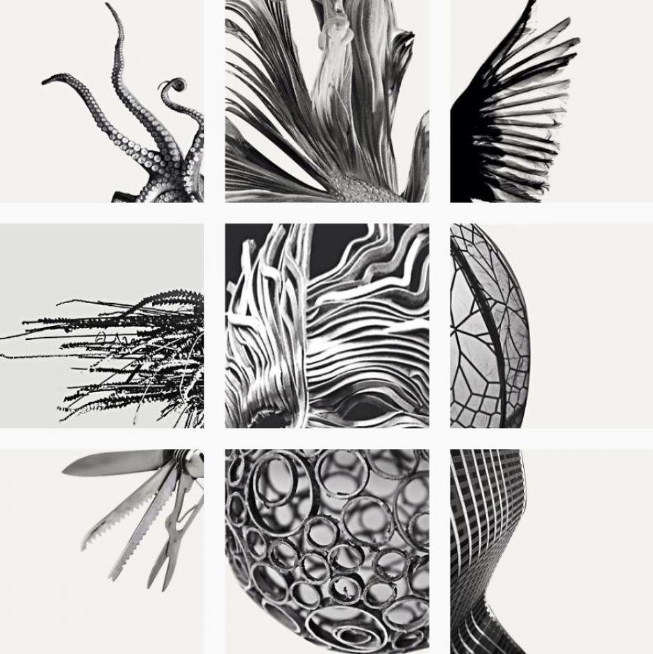 Una máscara compuesta de diversas texturas. (Foto: FatFeedZero/Instagram)