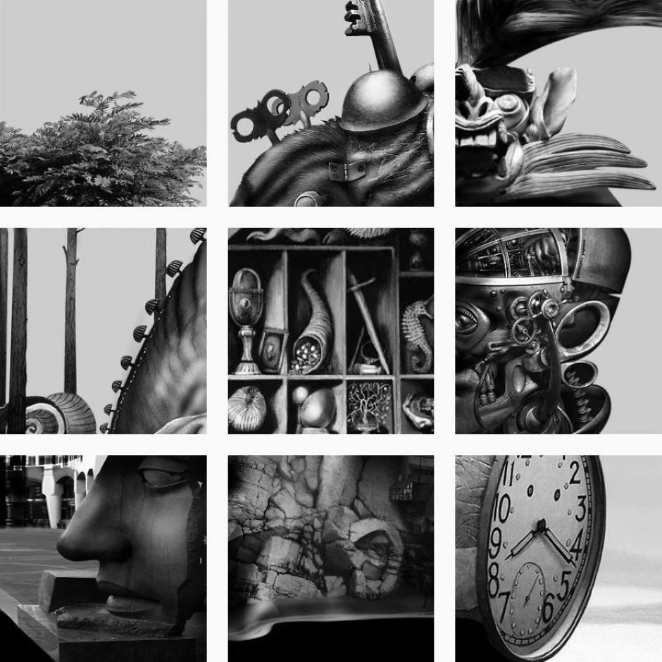 Esta cuenta coloca fotografías individuales para crear una sola pieza. (Foto: FatFeedZero/Instagram)