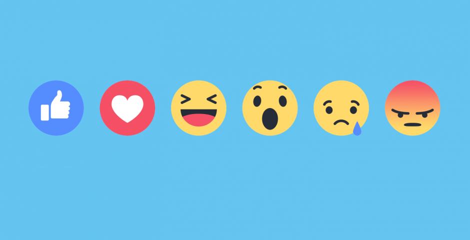 Las reacciones de Facebook. (Foto: Facebook)
