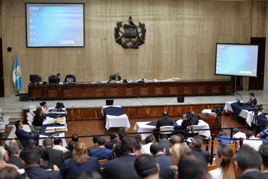 La audiencia de primera declaración del caso Cooptación del Estado sumó el uno de agosto, 29 audiencias no consecutivas. (Foto: Wilder López/Soy502)