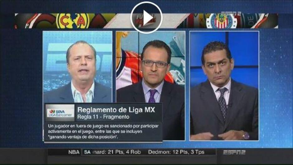 Felipe Ramos Rizo de ESPN está molesto por el nombramiento de Walter López. (Imagen: captura de pantalla)