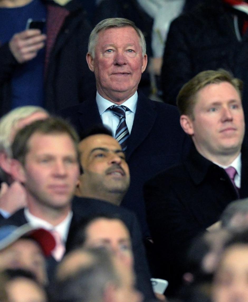Sir Alex Ferguson estuvo presente para ver jugar al equipo de sus amores, al que dirigió por mucho tiempo. (Foto: AFP)