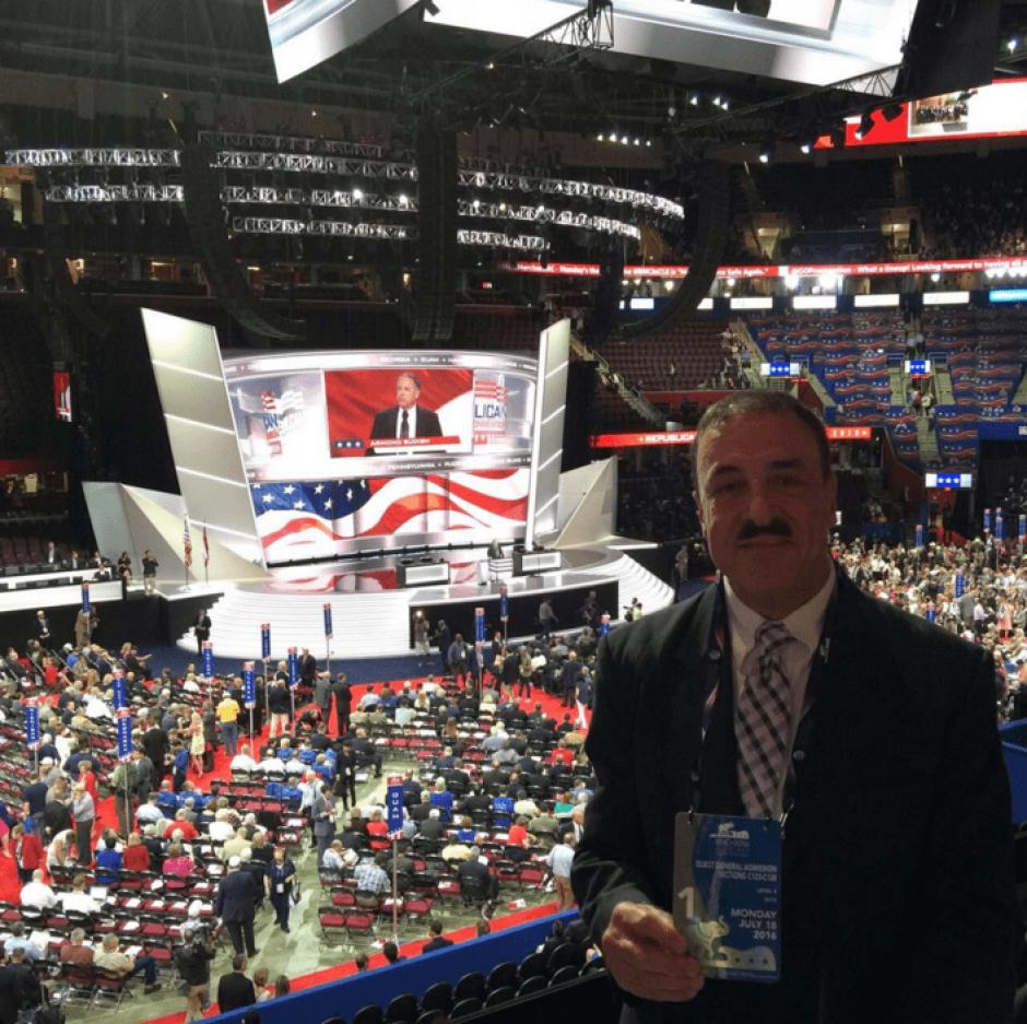 El diputado del PAN participó en la Convención Republicana. (Foto: @FLinaresB/Twitter)