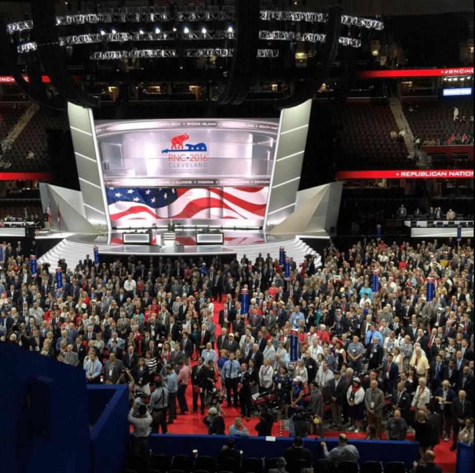 La Convención Republicana se efectuó en Cleveland, Ohio. (Foto: @FLinaresB/Twitter)