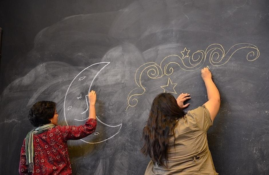 La ilustración también formó parte del festival. (Foto: Selene Mejía/Soy502)