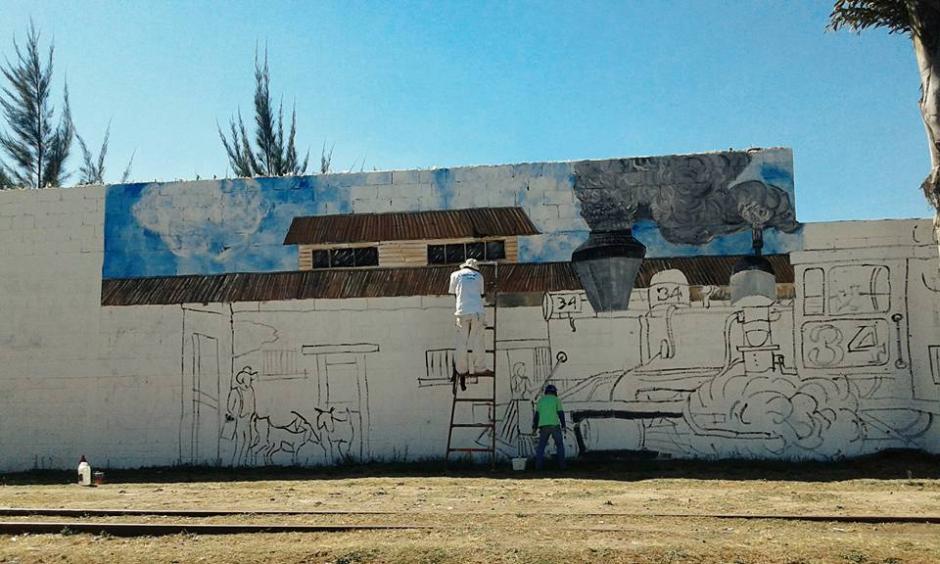 Cada pared de esquina es transformada en arte. (Foto: Celeste Mayorga)