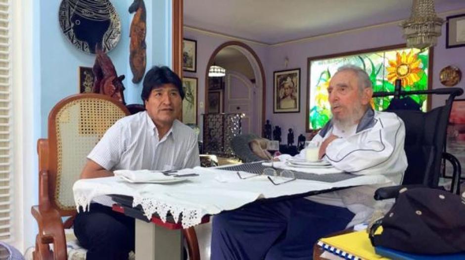 Se espera que el mandatario de Bolivia, Evo Morales, participe en los homenajes de Fidel Castro. (Foto: @evoespueblo)