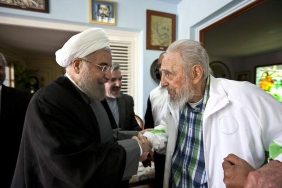 Se prevé que una comitiva del régimen de Hasan Rohani asista al funeral de Fidel Castro. (Foto: AFP)