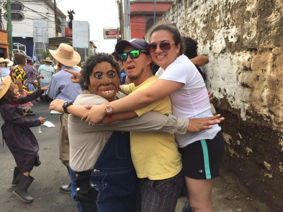 Los participantes escenifican acontecimientos políticos y sociales. (Foto: Jesús Alfonso/Soy502)