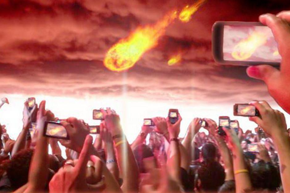 La primera imagen del #FinDelMundo.(Imagen: Twitter)