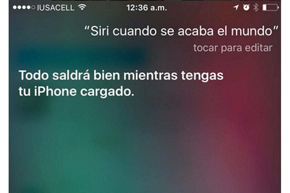 Siri es parte de los comentarios del fin del mundo.(Imagen: Twitter)