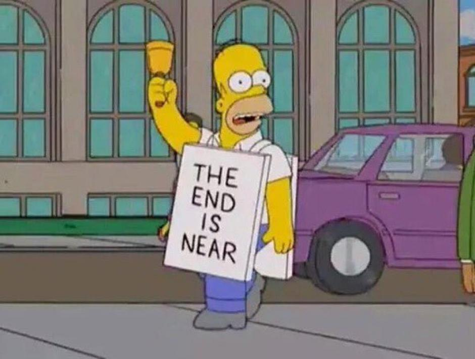Homero Simpson pronosticó el fin del mundo. (Foto: Twitter)