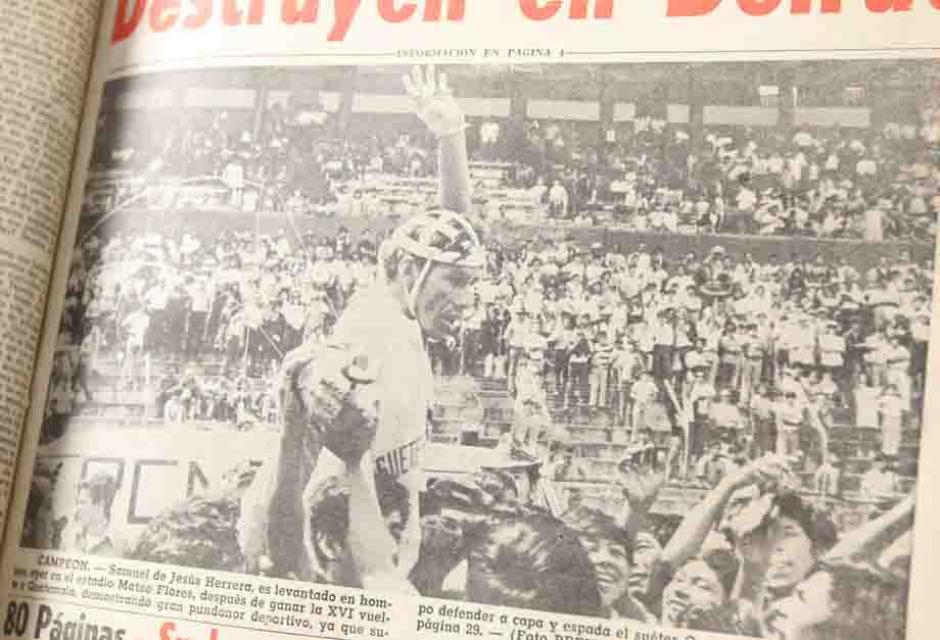 Samuel de Jesús Herrera ganó la XVI Vuelta Ciclística de Guatemala en 1972. (Foto: Dickens Zamora/Nuestro Diario)