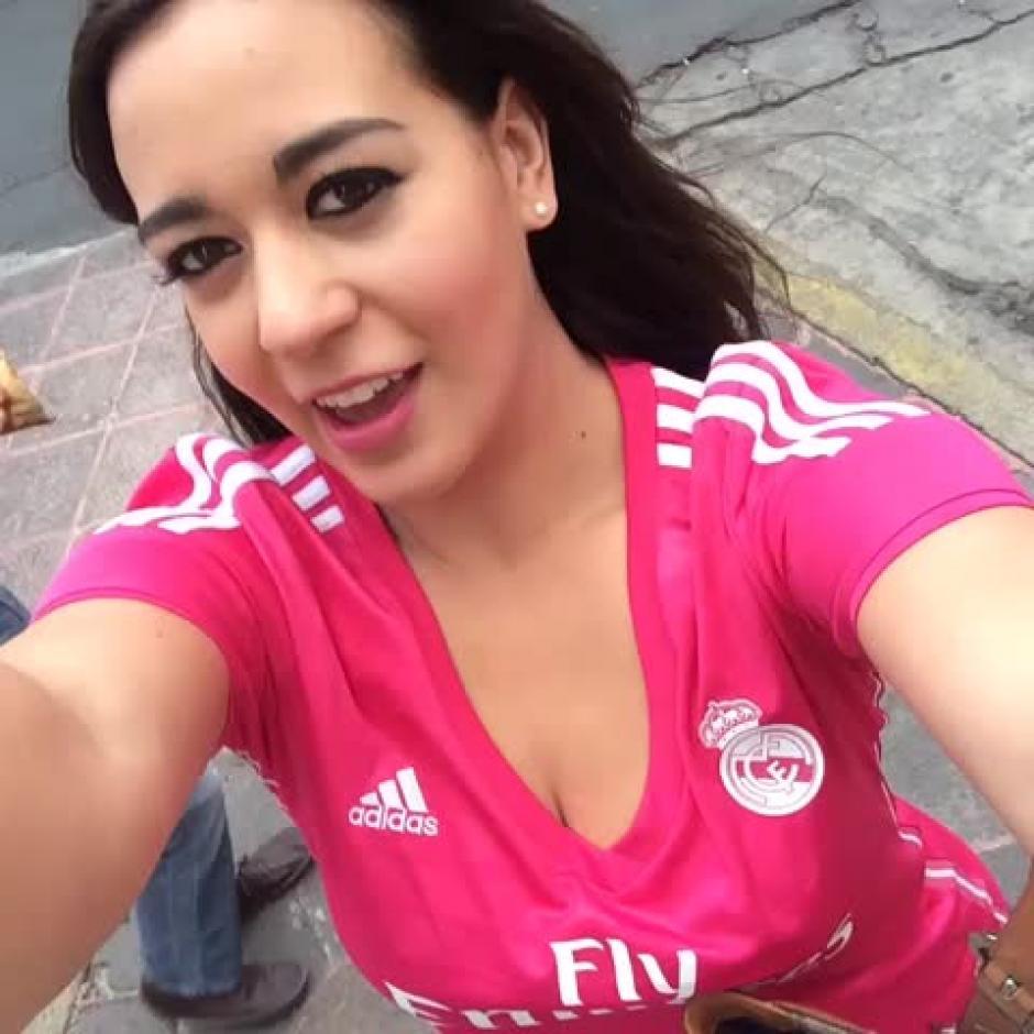 Itzel Sandino es seguidora del Real Madrid. (Foto: finebox.co)