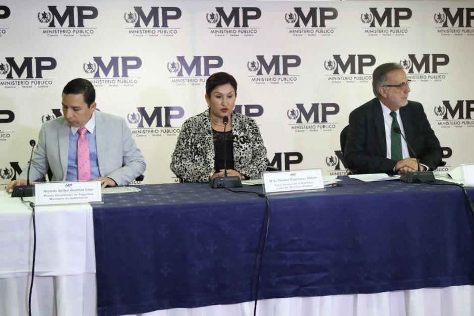 La Fiscal General informó sobre las hipótesis de la muerte del exfuncionario. (Foto: Alejandro Balán/Soy502)