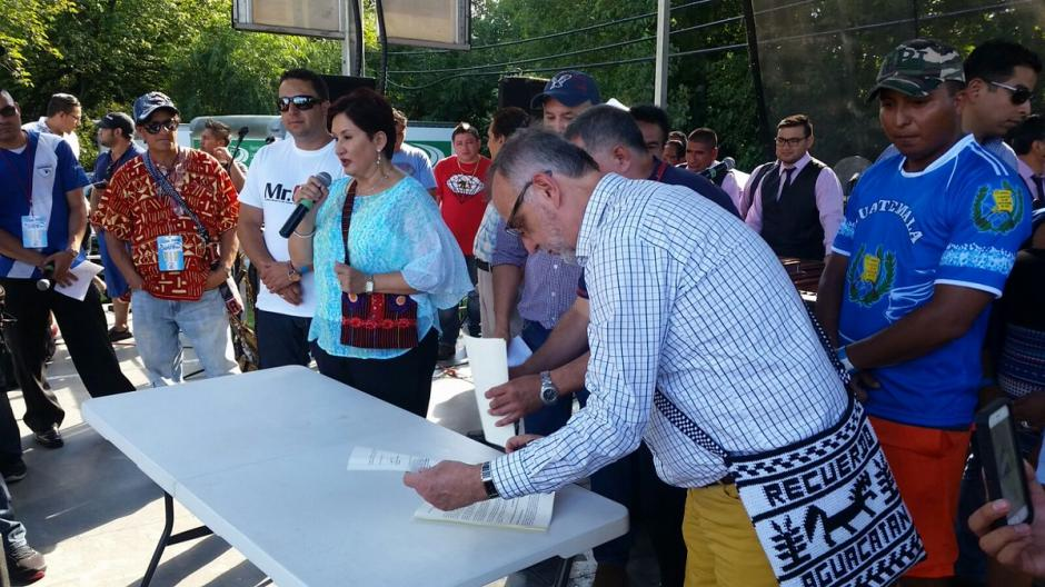 En la actividad también participó el comisionado Iván Velásquez. (Foto: Ministerio Público)