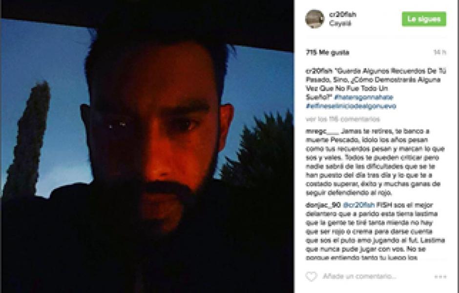 """Este es el enigmático mensaje de """"El Pescado"""" en Instagram. (Imagen: Captura de Instagram)"""