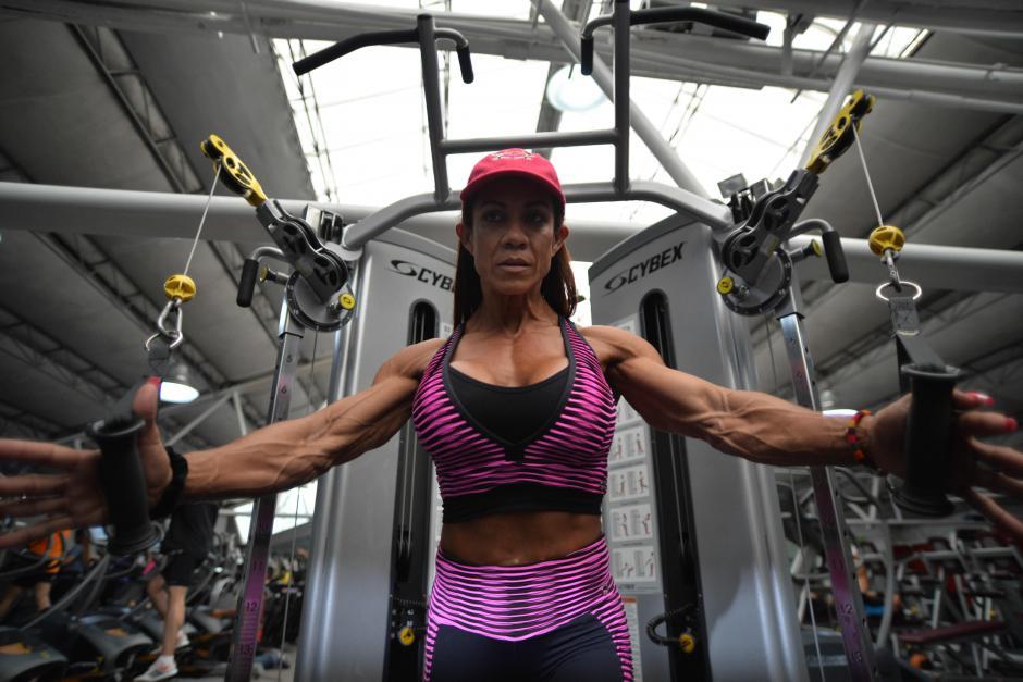 Helen ha participado en muchas competencias internacionales de fisiculturismo. (Foto: Wilder López/Soy502)